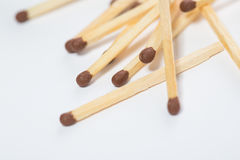 The matches on a white. Background royalty free stock photos