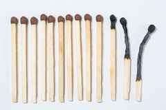 The matches on a white. Background royalty free stock image