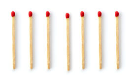 Matches on white background Stock Photo