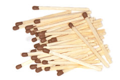 Matches on a white background Royalty Free Stock Photos