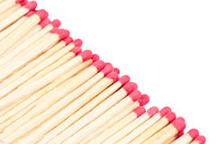 Matches on white. Red matches on white background Royalty Free Stock Photo