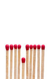 Matches on white - the short straw Stock Photos