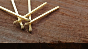 Matches On Wood Stock Photos