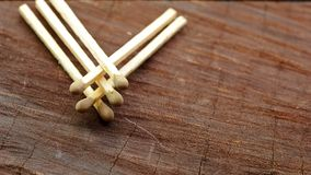 Matches On Wood Royalty Free Stock Photo