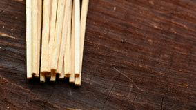 Matches On Wood Royalty Free Stock Images