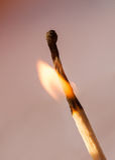 Matchflamma Royaltyfri Foto