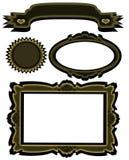 Matching Banner Frame Starburst Set Stock Image
