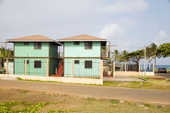Matching buildings Corn Island Nicaragua Royalty Free Stock Image