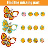 Matching children educational game. Find missing part puzzle activity. Matching children educational game. Find missing part. Puzzle activity for pre shool years Royalty Free Stock Images