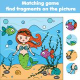 Matching children educational game. Kids activity. Find objects. Matching children educational game. Find objects activity for pre shool years kids and toddlers Stock Images