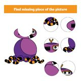 Matching children educational game. Match insects parts. Find missing puzzle. Activity for pre school years kids Stock Images