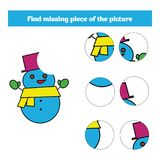 Matching children educational game. Match insects parts. Find missing puzzle. Activity for pre school years kids Royalty Free Stock Images
