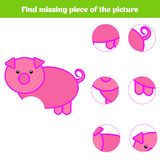 Matching children educational game. Match insects parts. Find missing puzzle. Activity for pre school years kids Stock Photos