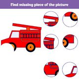 Matching children educational game. Match insects parts. Find missing puzzle. Activity for pre school years kids Stock Photography