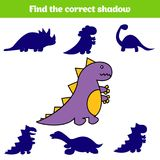 Matching children educational game. Match insects parts. Find missing puzzle. Activity for pre school years kids. Dinosaur vector illustration