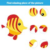 Matching children educational game. Match insects parts. Find missing puzzle. Activity for pre school years kids Royalty Free Stock Photography