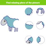 Matching children educational game. Match insects parts. Find missing puzzle. Activity for pre school years kids Royalty Free Stock Image