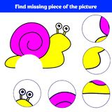 Matching children educational game. Match insects parts. Find missing puzzle. Activity for pre school years kids stock illustration