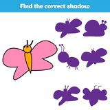 Matching children educational game. Match insects parts. Find missing puzzle. Activity for pre school years kids.  Royalty Free Stock Photography