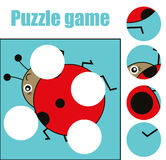 Matching children educational game. Match pieces and complete the picture. Puzzle kids activity Royalty Free Stock Photos