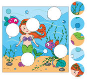 Matching children educational game. Match pieces and complete the picture. Puzzle kids activity Stock Images