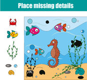 Matching children educational game. Match pieces and complete the picture. Puzzle kids activity Royalty Free Stock Image