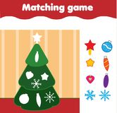 Matching children educational game. Match by shape kids activity.   Royalty Free Stock Images