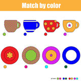 Matching children educational game Royalty Free Stock Photography