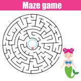 Maze game: fairytales theme Stock Photo