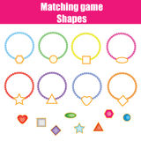Matching children educational game . Shapes Stock Images