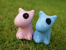 Matching dogs wedding gift. A pair of matching dogs wedding gifts Stock Image