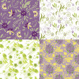 Matching Floral Patterns Royalty Free Stock Photography