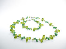 Matching Green Necklace and Bracelet Royalty Free Stock Photo