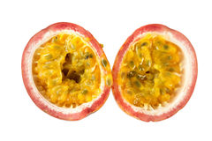 Matching Halves of a Ripe Passion Fruit Stock Photos