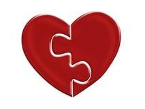 Matching heart halves Stock Photos