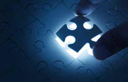 Matching puzzle Stock Photography