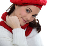 Matching scarf and bonnet Royalty Free Stock Image