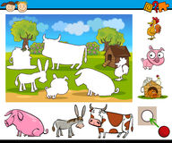 Matching task for preschoolers Royalty Free Stock Images
