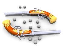 Matchlock pistol Stock Image