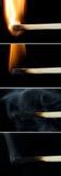 Matchs au-dessus de fond noir Photo libre de droits