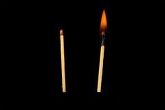 Matchs chauds et non résolus Image libre de droits