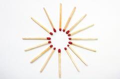 Matchs circulaires Photographie stock libre de droits
