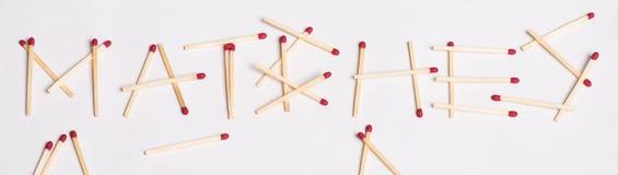 Matchs définis Image stock