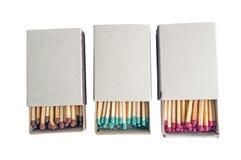 Matchs dans la boîte Images stock