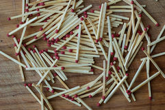 Matchs dans un bois Image stock