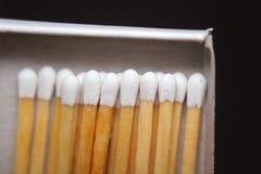 Matchs dans une boîte photo libre de droits