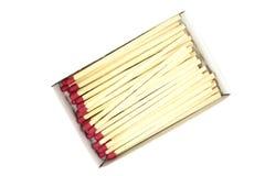 Matchs de cheminée dans une boîte Image stock