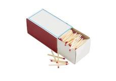 Matchs de sécurité en bois dans le besi de grande boîte d'allumettes et de plusieurs matchs Photographie stock libre de droits