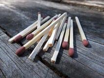 Matchs dispersés Photographie stock libre de droits