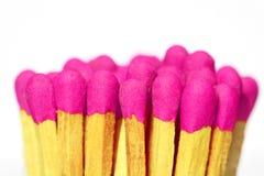 Matchs en bois roses Photo libre de droits